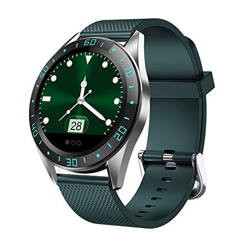 ZHENAO Pulsera Smartwatch, Pantalla de 1,22 Pulgadas de Alta Definición, Saludable, Contador de Pasos, Reloj Deportivo Multifuncional para Hombres Y Mujeres Desgaste diario/Green