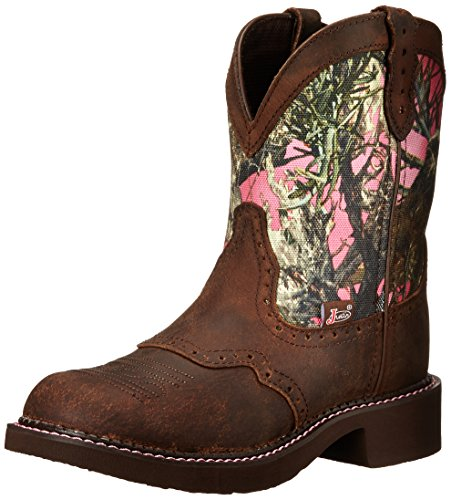 """Justin Boots Women's Gypsy Collection 8"""" Soft Toe,Aged Bark/Pink Camo,7 B US"""