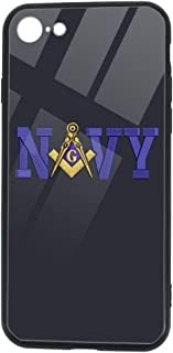 US Navy & Masonic Square and Compass iPhone 7 8 Case Shockproof Slim Fit Protective Case Soft Touch Back Cover