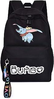 Dumbo Mochila Casual Mochila de Dibujos Animados Impreso Mochila Mochila de Lona aligeramiento Entre Hombres y Mujeres Mochila Escolar Unisex (Color : A02, Size : 29 X 12 X 44cm)