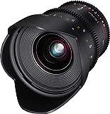 Samyang SA1415 - Objetivo para Video VDSLR II para Nikon F (20 mm, T1.9 ED, AS UMC), Negro