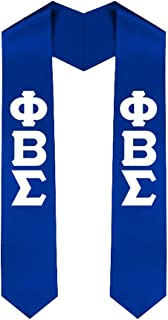 Phi Beta Sigma New Greek Lettered Graduation Sash Stole