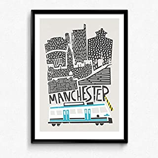 Mid Century Cityscape Skyline Britain Gifts for Lovers Poster Poster Home Art Wall Posters [No Framed]