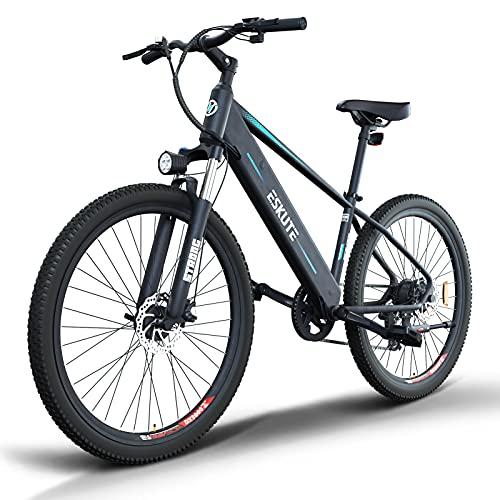 ESKUTE E-Bike E Mountainbike 27,5 Zoll Pedelec,Voyager\' Elektrofahrrad mit 48V 10Ah versteckte Lithium-Akku 250W Heckmotor