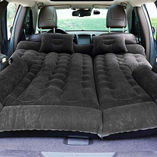 Sinbide Luftbett für Auto Matratze aufblasbares Bett Air Bett für Camping Outdoor Auto Luftmatratzen mit Luftpumpe Auto Matratze Aufblasbares Bett für den Auto-Rücksitz mit Kissen und Fußraum-Stütze