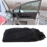 Tendina parasole per auto, 2 pezzi Tendina parasole anteriore per auto Parasole protezione UV nero Universal Car Protezione UV estate 56x46CM / 22x18,1IN