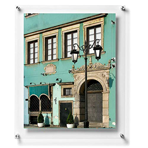 Wexel Art 27x39-Inch Pop Excel Magnetic Single Panel Framing Grade Acrylic Floating Frame with Silver Hardware for 24x36-Inch Art & Photos