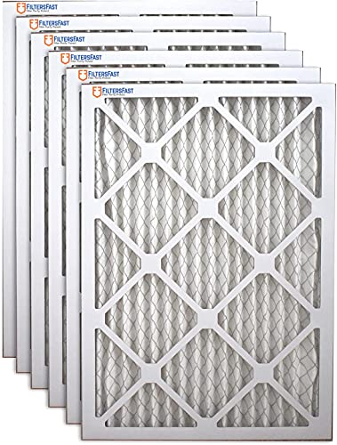 Filters Fast 10x16x1 Air Filter MERV 11, 1' AC Furnace Air Filters, Made in the USA, Actual Size: 9.75'x15.75'x 0.75', 6 Pack