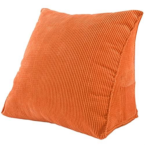 FDNFG Seat Cushion Chair Massivfarbe Lesekissenkissen Keilkissen Dickes Cord-Lumbal-Rückkissen Seat Cushion Chair (Color : Orange)