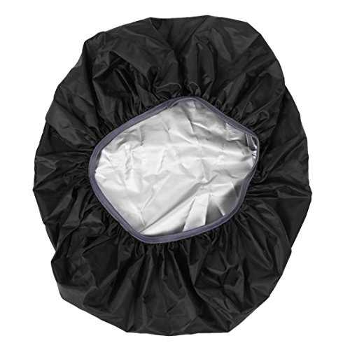 TOOGOO(R) Nueva Funda de impermeable para proteccion de mochila de excursion de viaje Accesorio de mochila, 35L Negro