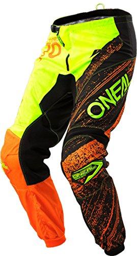O\'NEAL Element Burnout MX DH MTB Pant Hose lang schwarz/orange/gelb 2018 Oneal: Größe: 32 (48)