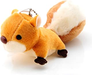 litymitzromq Keychain, Lovely Plush Squirrel Stuffed Doll Toy Key Chain Phone Bag Pendant Hanging Decor