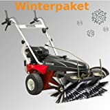 Barredora máquina Tielbürger tk38 Pro de paquete incluye cepillo de pala de nieve Wintereifen