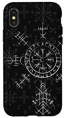 iPhone X/XS Celtic Lucky Charm Viking Compass Vegvísir - Celtic Vegvisir Case