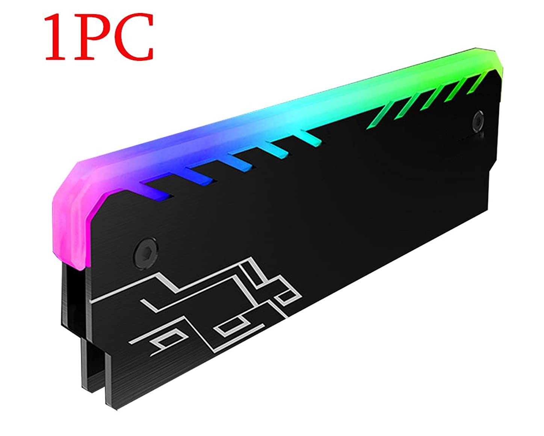 Memory Cooling Vest Heatsink PC RGB Light Effect Glow Aluminum Magnesium Alloy Cooler Heat Sink Cooling Vest Fin Radiation Dissipate lscufuh439961