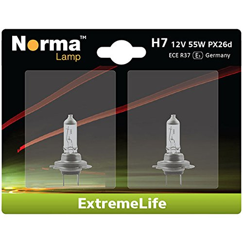 Norma 214607–202 halogène H7 Lampe de phare double blister Extreme Life 12 V 55 W PX26d