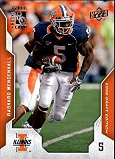 2008 Upper Deck Draft Edition #84 Rashard Mendenhall RC NFL Football Trading Card