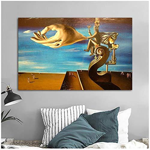 NIEMENGZHEN Druck auf Leinwand Zusammenfassung von Salvador Dali Leinwand Gemälde Wandkunst Bild für Wohnzimmer Schlafzimmer Wohnkultur 27,5
