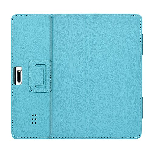 Universal Leather Stand Cover Case,for 10/10.1 Inch Android Tablet PC,Anti-dirts,Anti- Fingerprints, Anti-Aging, Anti-Shock (Blau)