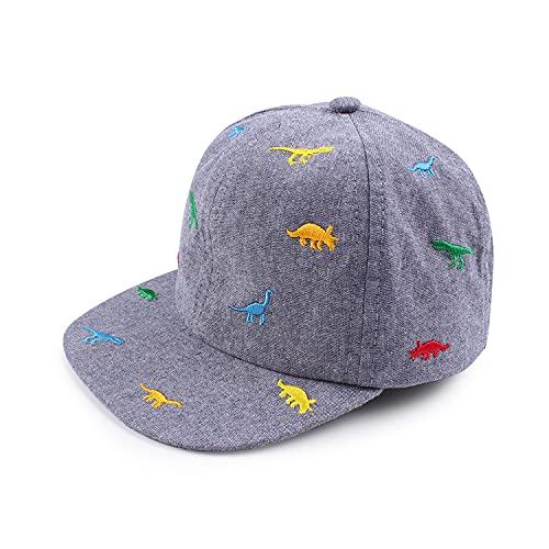 Pesaat Gorra de béisbol para bebé, con protección UV (Dinosaurio Bordado, 1 a 2 años)