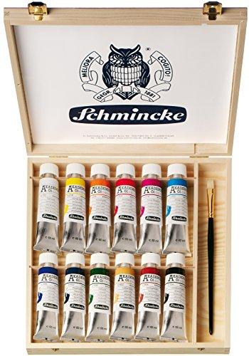 Schmincke Akademie Öl Holzkasten 12x Tb 60 ml 79 112 097 Pinsel Einsteiger Profi