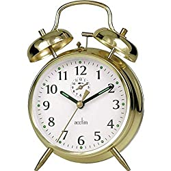 Traditional double bell wind up alarm clock. Note: For reliable time keeping the clock needs to be fully wound every 24 hours. The clock has been regulated during production but due to shipping, it may require adjustment if it runs fast or slow. The ...