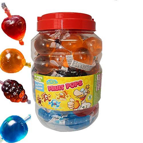 Crazy Candy Factory Fruit Pops 35ml (44 Pack) TIK Tok Challenge