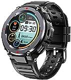 XWZ Smart Watch Bluetooth Chiamata Musica Impermeabile Orologio da Polso Fitness Tracker Business Smartwatch da Uomo Smart Watch per Uomo 1,28 Pollici IPS TFT Rotondo,Nero