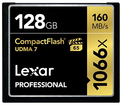 Lexar Professional 1066x 128GB VPG-65 CompactFlash card (Up to 160MB/s Read)