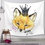 Nunbee Tapisserie Wandbehäng Ölgemälde Fuchs Drucken