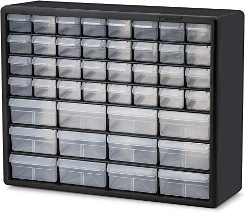 Akro-Mils 10144 D 20-Inch by 16-Inch by 6-1/2-Inch Hardware and Craft Cabinet, Black (Pack of 2)