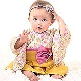 Sweet Mommy 袴 ロンパース ベビー 着物 カバーオール 日本製和柄ちりめん ラベンダー 50~70