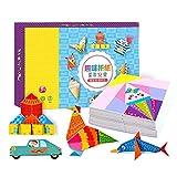 JVSISM 152 Unids DIY Educativo Origami Libro de Corte de Papel Manualidades Ni?Os Juguetes Hechos una Mano Kindergarten DiversióN Rompecabezas Bebé Ni?Os Regalos