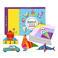 Timagebreze 152個 DIY教育折り紙の紙 カッティングブック工芸品 子供の手作りおもちゃ 幼稚園の楽しいパズル ベビーキッズのギフト