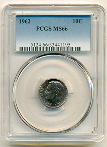 1962 Roosevelt Dime MS66 PCGS