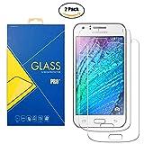 [2 Pack] Panzerglas Schutzfolie Samsung Galaxy J1 (2015) SM-J100 / J100H - Gehärtetem Glas Schutzfolie Bildschirmschutzfolie für Samsung Galaxy J1 (2015) SM-J100 / J100H