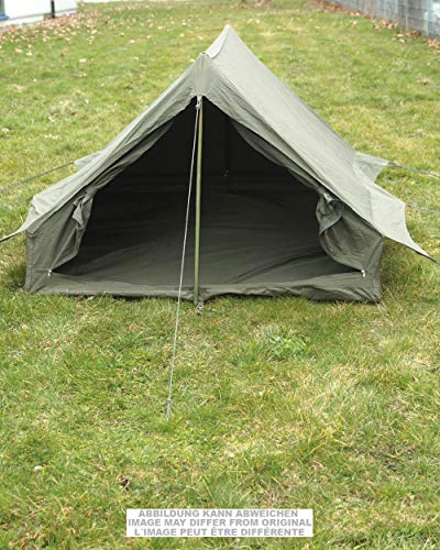 Two Man Tent, French army tent with Floor, Olive, New, Complete with Accessories