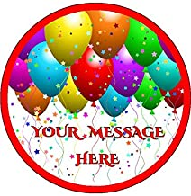 Novelty Personalised Balloons and Stars 7.5