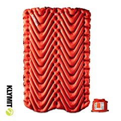 Popular insulated static V goes double-wide - proven comfort, lightweight design, and rugged performance in a wide 47-inch width 4-season pad; perfect for couples camping Klymalite insulation isolates the top and bottom halves of the pad, isolating t...