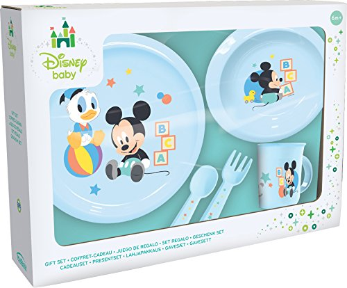 Ciao 33540–Set Teller Mickey Mouse Baby, hellblau