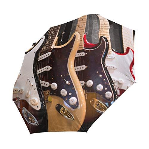 Ahomy - Paraguas plegable para guitarra eléctrica y lluvia a prueba de...