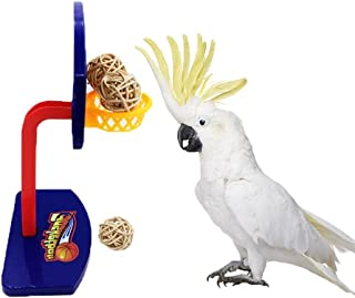 Bird Intellective Mini Basketball Rack Training Toy for Budgies Parakeet Parrot Cockatiels Conures Small and Medium Birds