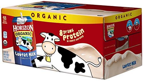 Horizon Organic 1 % Low Fat Milk, 8-Ounce Aseptic Cartons (Pack of 18)