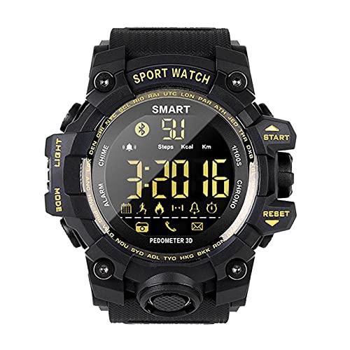 Orologio sportivo analogico digitale intelligente da uomo impermeabile Bluetooth orologio da polso intelligente calorie ambulanti fotocamera remota promemoria chiamate/SNS/SMS Android iO(Color:D)