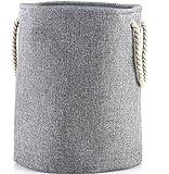 LATIJA Multifuncional, Cesta de lavandería Plegable y Almacenamiento de Juguetes/Foldable Basket for Laundry or Toys of Linen and with Handles - Single or Bundles