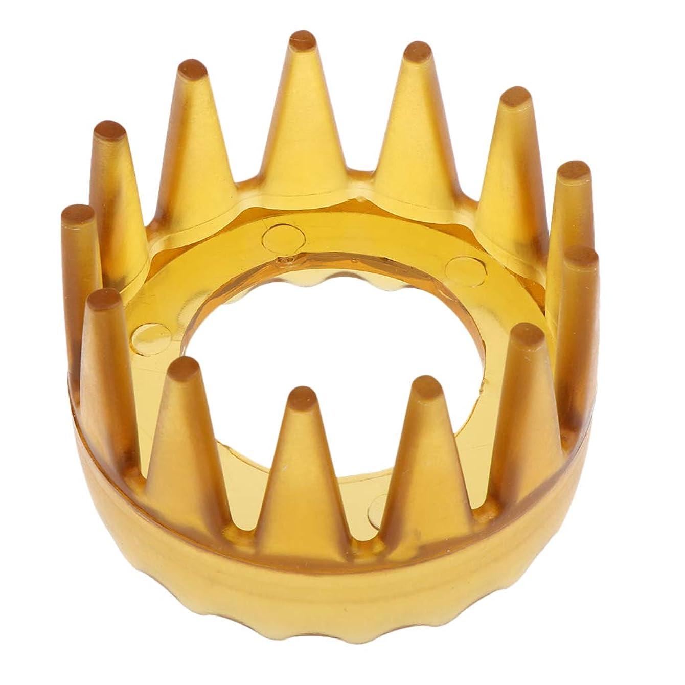 韓国語指令放課後F Fityle ヘアケアブラシ 頭皮マッサージ 滑り止め 櫛 くし 4色選べ - 黄