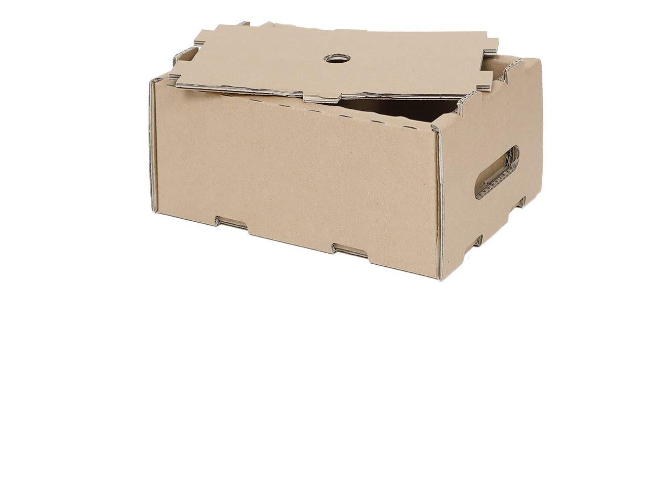 15 kleinladungs portador KLT A15 3740 258 x 158 x 128 mm Caja de transporte apilables cartón: Amazon.es: Oficina y papelería