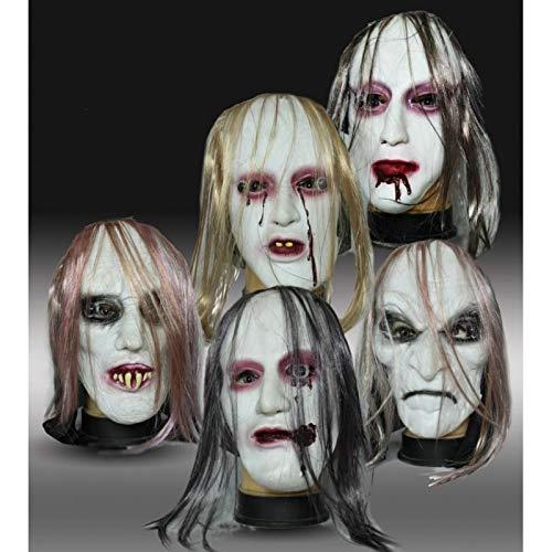 Di&Gi Máscara de silicona zombie con pelo.