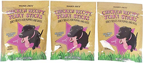 Trader Joe's Chicken Recipe Jerky Sticks 6 Oz Pack of 3