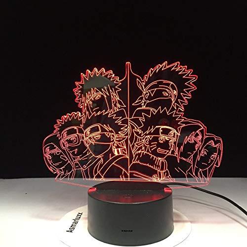 Lámpara de noche LED 3D, 7 cambios de color, Home Decor lámpara de mesa Visual Night Light Touch Remote